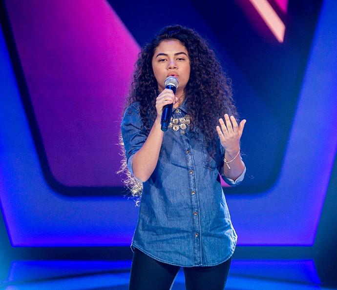 Nathy Veras cantou Back to Black no The Voice Kids (Foto: Isabella Piinheiro/Gshow)
