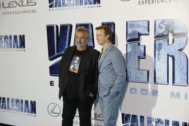 Luc Besson e Dane DeHaan (Foto: Danielle Feltrin)