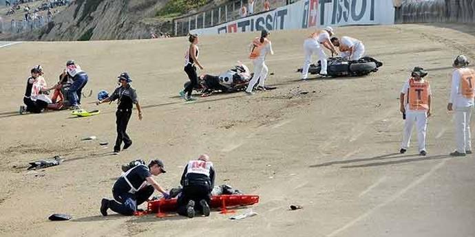 Bernat Martínez e Daniel Rivas morrem após acidente na largada de etapa da MotoAmerica, em Laguna Seca, nos EUA (Foto: Reprodução)