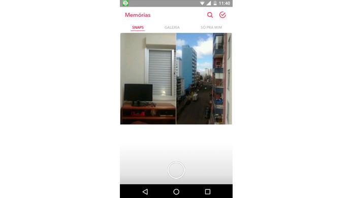 Recurso mostra galerias de snaps salvos e permite edição posterior (Foto: Reprodução/Snapchat)