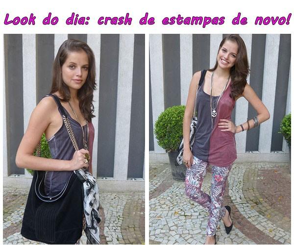 Dicas da Ju look do dia - crash de estampas de novo (Foto: TV Globo/Malhação)