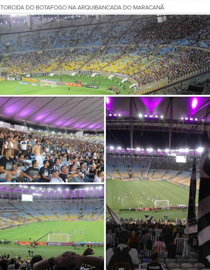 Mosaico Torcida do Botafogo no Maracanã (Foto: André Casado)