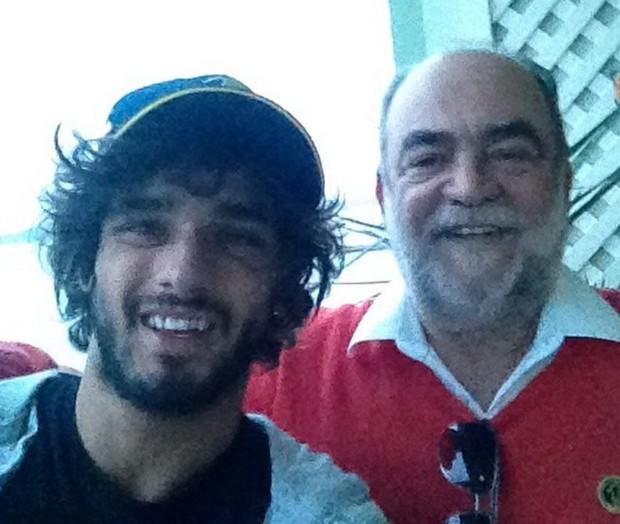 Marlon Teixeira com o avô, Delfim Peixoto (Foto: Reprodução/Instagram)