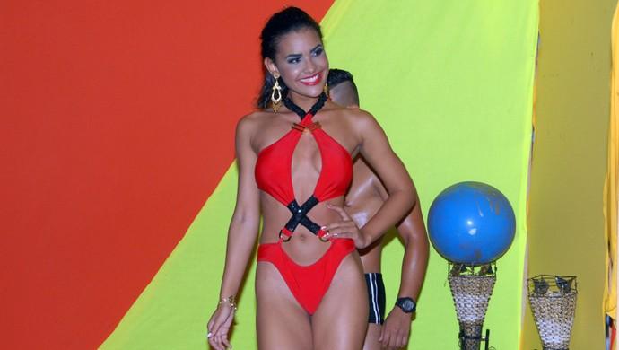 Fabiana Baileiro, do São Tiago F.C., é a Musa dos Clubes de Mazagão 2014 (Foto: Gabriel Penha/GE-AP)