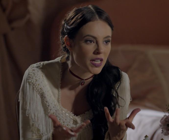 Melissa se revolta com plano furada (Foto: TV Globo)