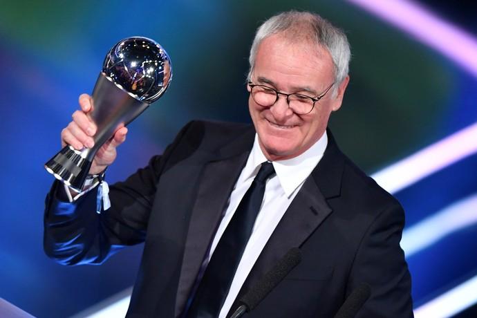 Ranieri melhor técnico Fifa (Foto: AFP)