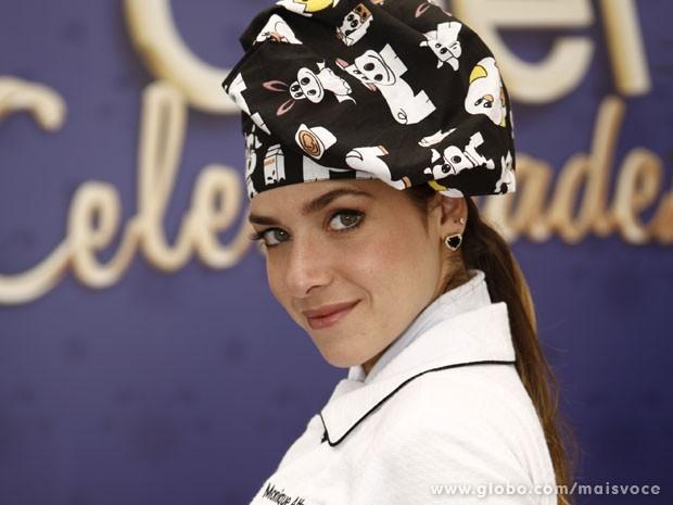 Monique Alfradique - participante do Super Chef Celebridades (Foto: Mais Você / TV Globo)