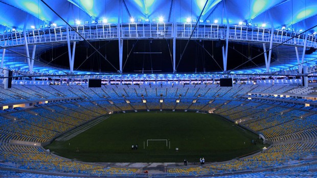 Iluminação estádio maracanã (Foto: Erica Ramalho)