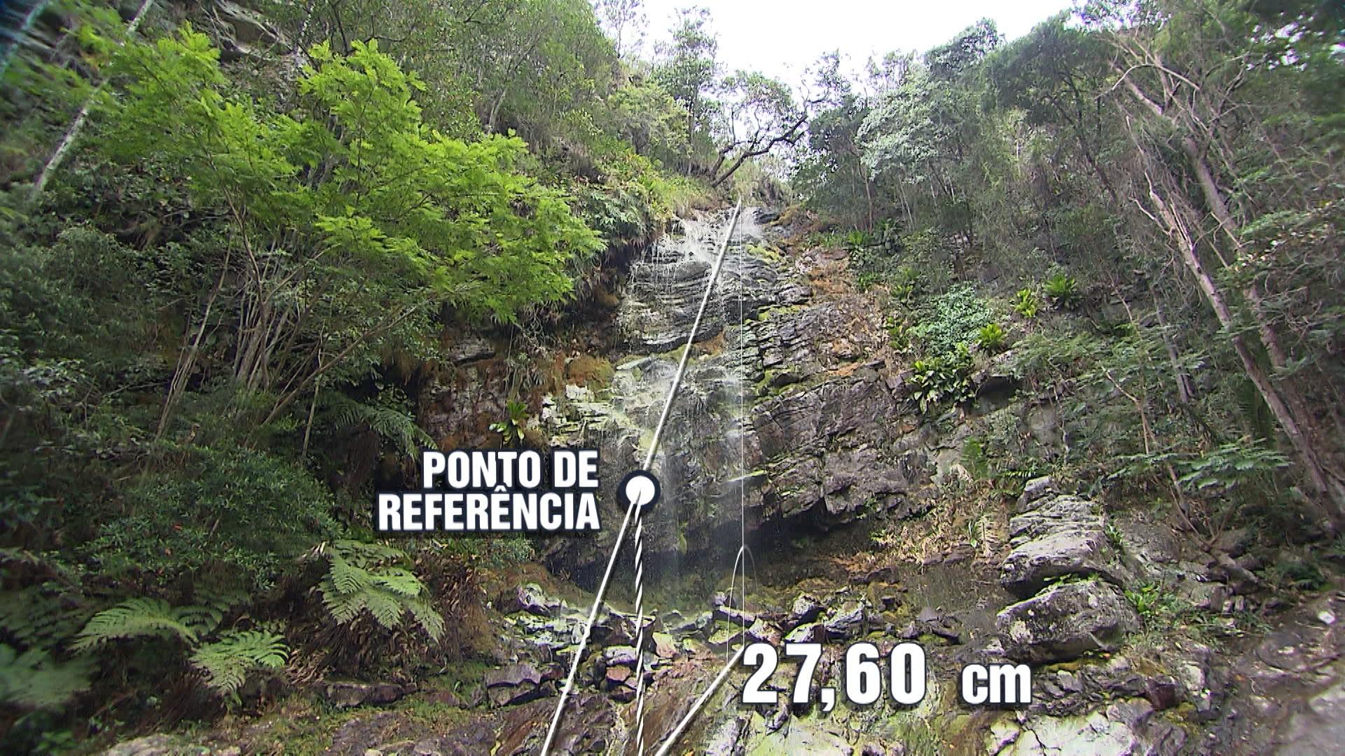 Cachoeira Bico do Urubu, em Miguel Calmon, se transforma em sala de aula de matemática (Foto: Divulgação)
