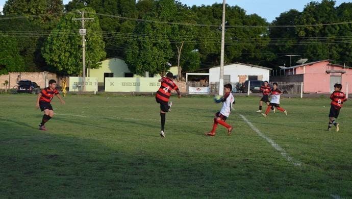 Flamengo A e Flamengo B no Peladão da Lifajc Sub-10 (Foto: Nailson Wapichana/GloboEsporte.com)