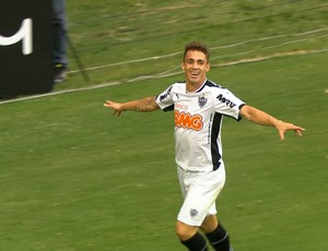 Neto Berola, atacante do Atlético-MG (Foto: Reprodução\TV Globo Minas)