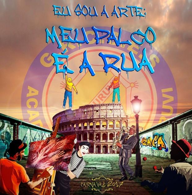 Logo do enredo para o Carnaval 2017 da Acadêmicos do Tucuruvi (Foto: Reprodução/Facebook)