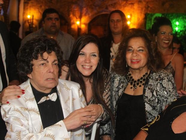 Cauby Peixoto, Simony e Ângela Maria em festa em Mauá, em São Paulo (Foto: Caio Duran e Thiago Duran/ Ag. News)
