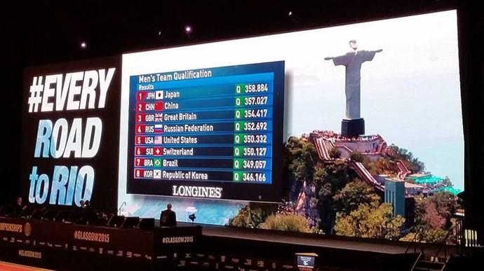 Equipe masculina Brasil ginástica artística mundial glasgow rio 2016 (Foto: RICARDO BUFOLIN/CBG)