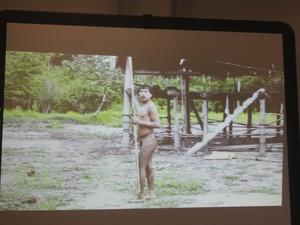 Índios isolados que estabeleceram contato  (Foto: Veriana Ribeiro/G1)
