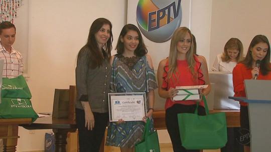 Vencedores do EPTV na Escola 2016 são premiados em São Carlos, SP