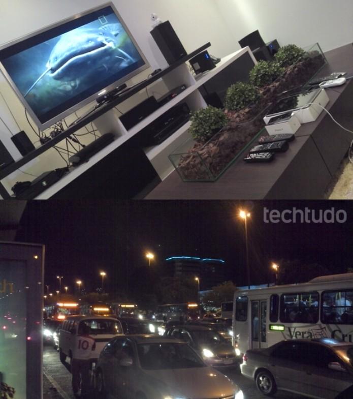 Fotos tiradas com o Motorola Razr i: ruído em ambientes internos, foco impreciso em fotos noturnas (Foto: Allan Melo / TechTudo)