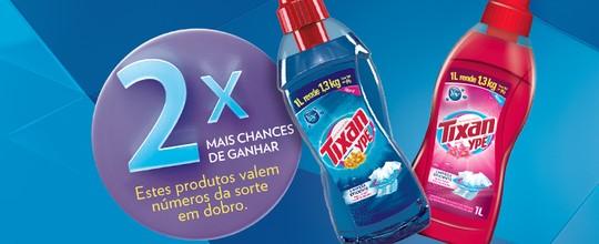 Lava-roupas líquido Tixan Ypê dobra as suas chances de ganhar