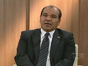 Superintendente de Polícia da capital, Sebastião Uchôa, em entrevista na TV Mirante (Foto: Reprodução/TV Mirante)