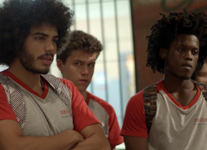 A galera do Dom Fernão fica cheia de marra (Foto: TV Globo)