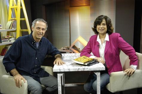 Leila em seu programa da Multirio, 'Cidade de leitores' (Foto: Multirio)