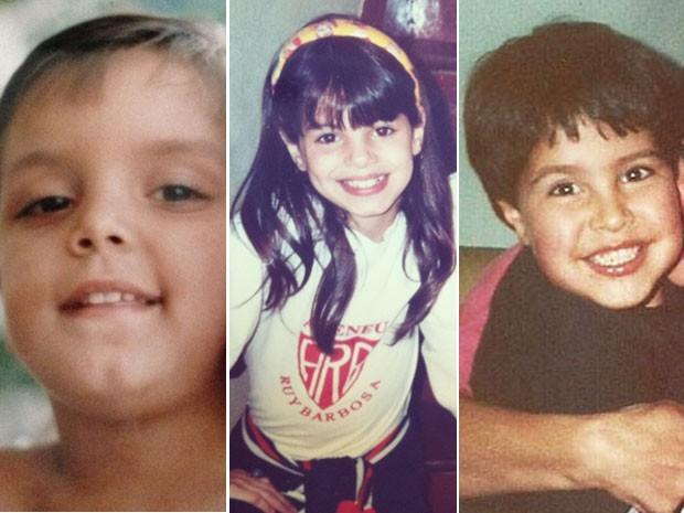 Reconhece essas fofuras? São três atores que resolveram homenagear as mães  (Foto: Acervo pessoal )