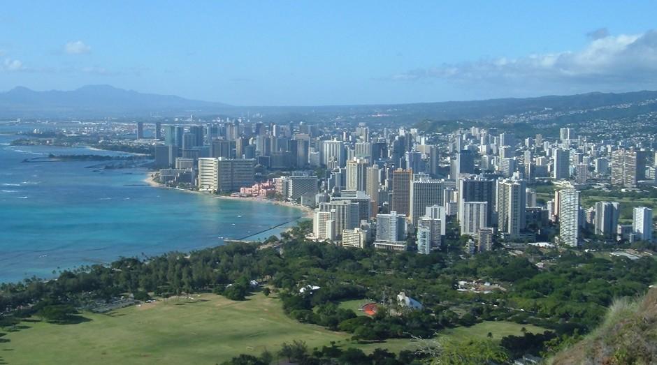 Honolulu, no Havaí: multas para quem atravessar a rua olhando o celular (Foto: Wikicommons)