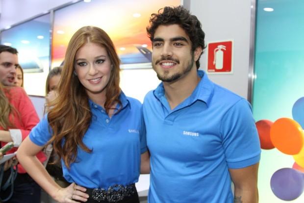 Marina Ruy Barbosa e Caio Castro (Foto: Thiago Duran / AgNews)