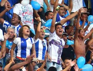 Torcida CSA (Foto: GLOBOESPORTE.COM)