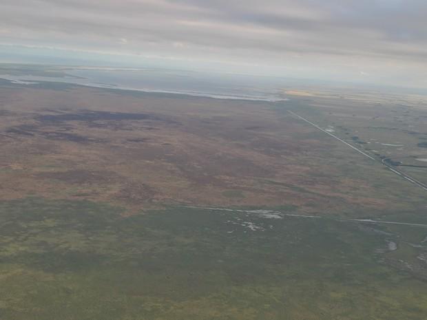reserva taim; estação ecolópgica; rio grande do sul; incêndio; fogo; taim; rio grande do sul (Foto: Caio Eichenberger)