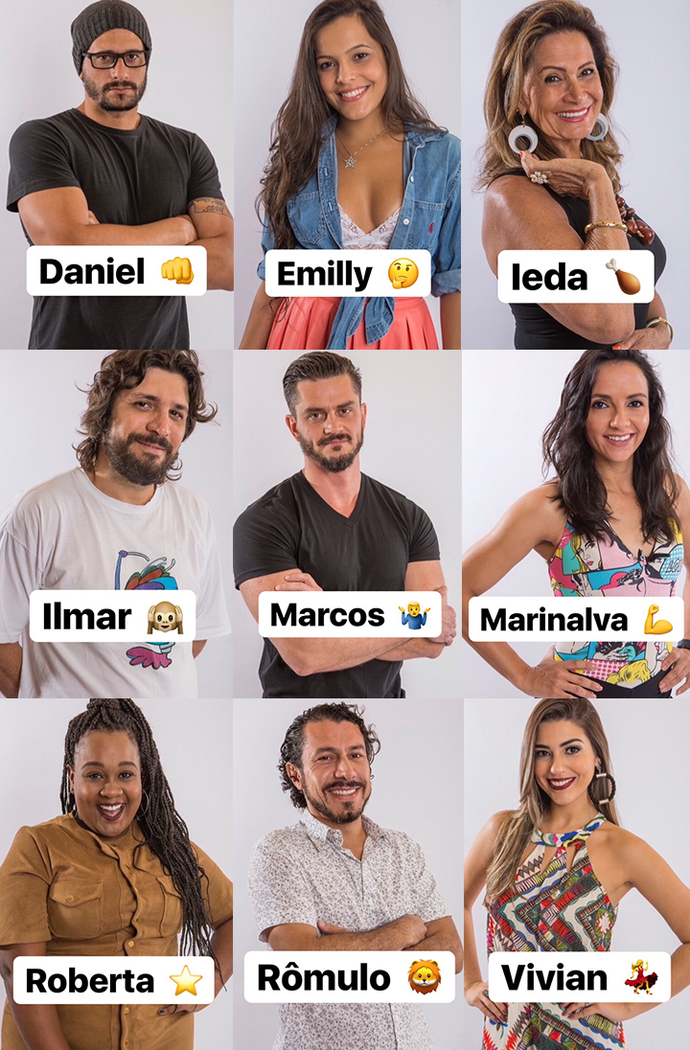 Pedro escolhe emojis para os brothers e sisters (Foto: Reprodução/Internet)