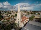 Vista aérea da Igreja Nossa Senhora Auxiliadora (Drone Cuiabá)