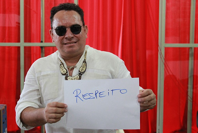 Gonzaga Blantez. do Cordão do Marambaia (Foto: Katiúscia Monteiro/ Rede Amazônica)