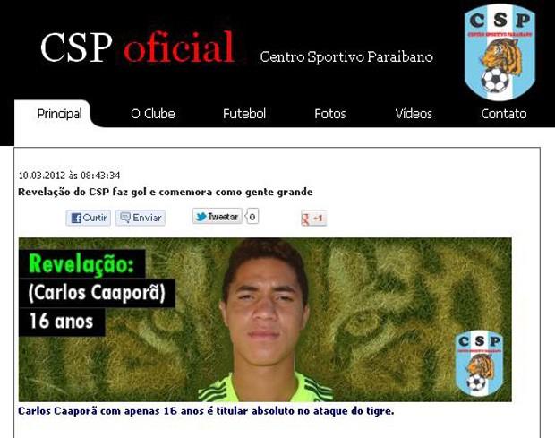 Carlos Caaporã (Foto: Reprodução / CSP)