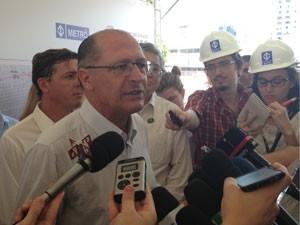 Governador Geraldo Alckmin durante coletiva de imprensa (Foto: Tatiana Santiago/G1)