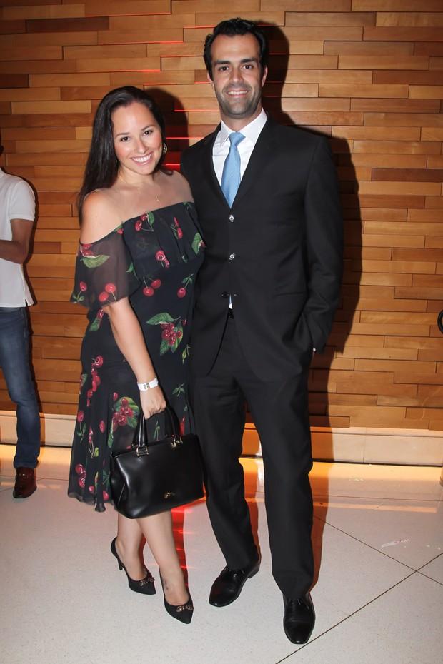 Mariana Belem e o marido Cristiano Saab (Foto: Manuela Scarpa / Brazil News)