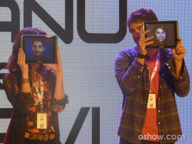 Davi e Manu usam a criatividade  (Foto: Geração Brasil / TV Globo)