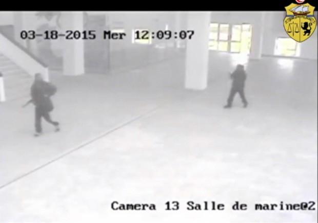 Imagens de atentado no museu do Bardo divulgadas pelo governo da Tunísia (Foto: AP / Ministério do Interior da Tunísia)