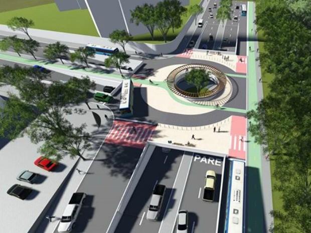 Maior parte dos projetos defende obra sem a necessidade de viadutos (Foto: Direitos Urbanos/Reprodução)