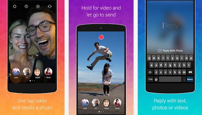 Bolt é o novo app do Instagram para envio de fotos e vídeos que se autodestroem (Foto: Divulgação/Bolt)