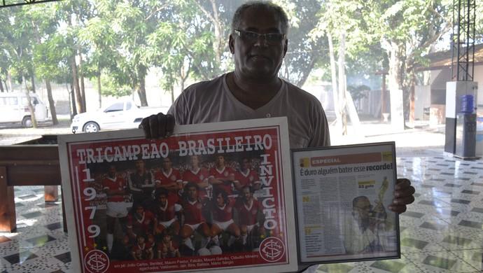 Bira Campeão Brasileiro pelo Internacional (Foto: Jonhwene Silva/GE-AP)