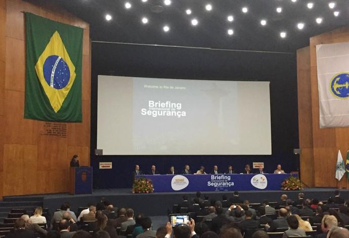 Briefing de segurança Rio 2016 (Foto: Flávio Dilascio)