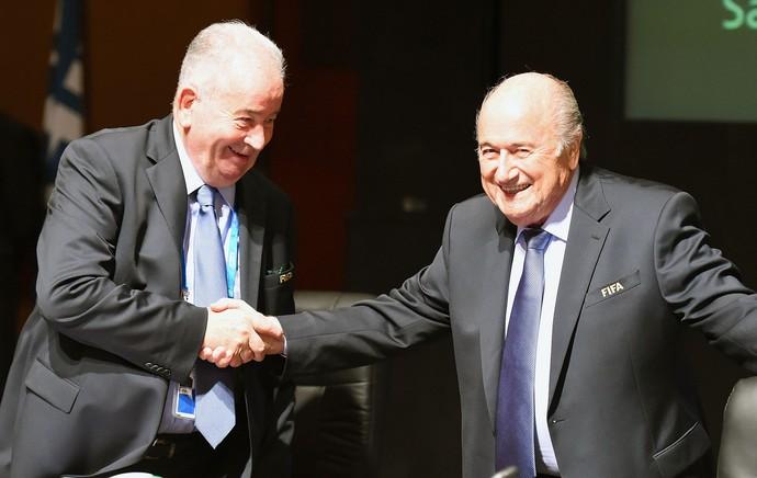 Julio Grondona presidente da AFA com Blatter (Foto: Getty Images)