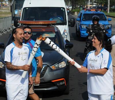 revezamento da tocha paralímpica Rio 2016 (Foto: Alexandre Durão)