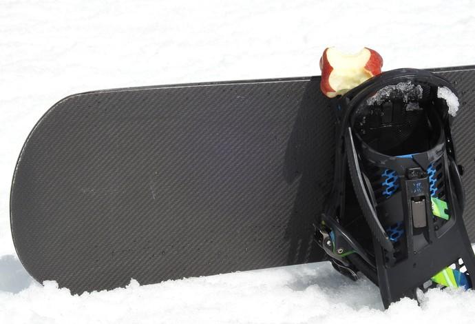 Uma maçãzinha entre uma prova e outra para enganar a fome (Foto: Thierry Gozzer)