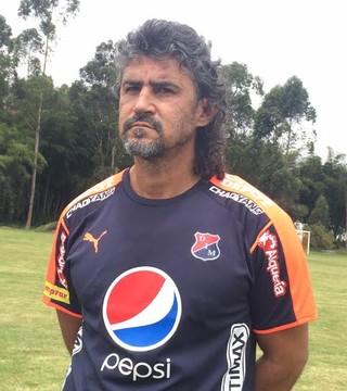 Leonel Álvarez, técnico do Independiente Medellín (Foto: Mauricio Oliveira)