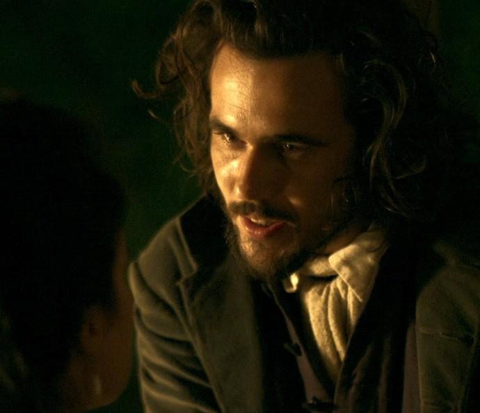 Xavier diz valer a pena se arriscar por Joaquina (Foto: TV Globo)