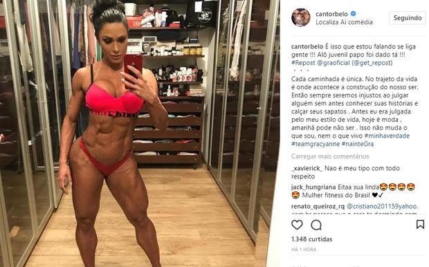 Belo compartilha foto sexy de Gracyanne e manda recado (Foto: Reprodução/Instagram)