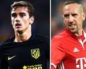 Duelo de gerações: Griezmann e Ribéry lideram Atlético x Bayern
