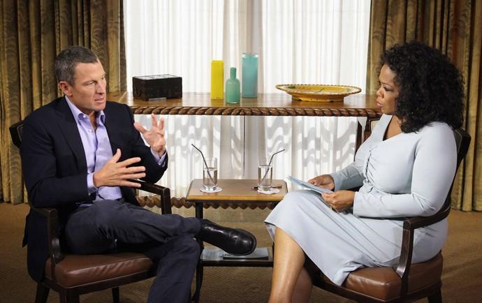 Lance Armstrong e Oprah Winfrey (Foto: AP)